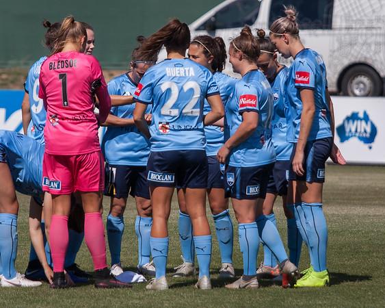Canberra United Team talk