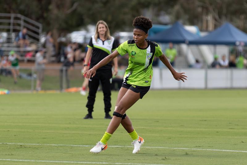 Simone Charley goal shot