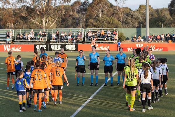 Teams line up