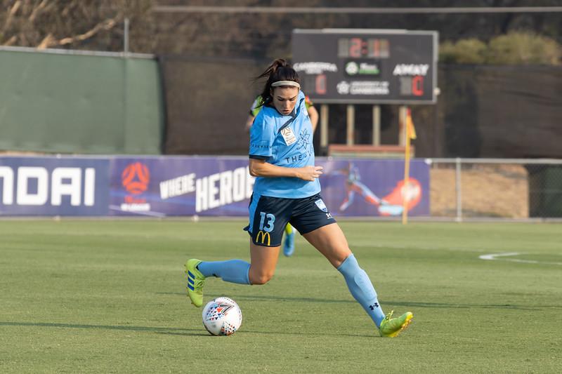 Veronica Latsko controls the ball