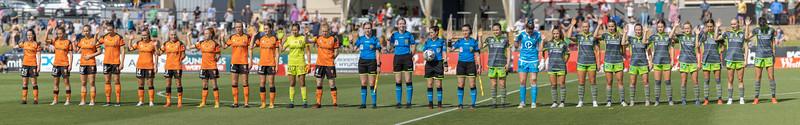International Women's Day Canberra and Brisbane Pano