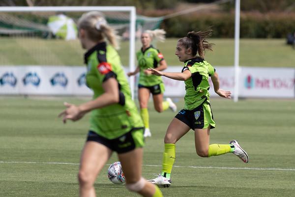 Emma first start for Canberra United.