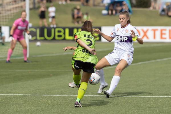 Emma Ilijoski cross blocked by Rigby