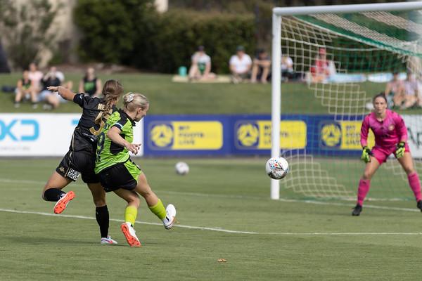 Nicki FLANNERY shot at goal