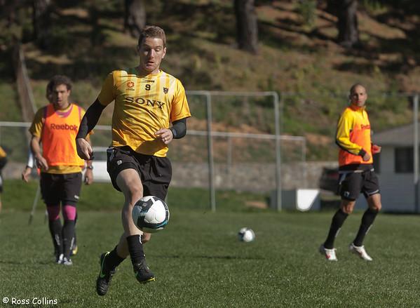 Wellington Phoenix 2009/2010 in Training, Newtown Park, Wellington, 20 August 2009