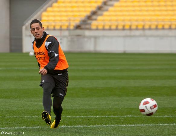 Phoenix in Training at Westpac Stadium, Wellington, 12 August 2010