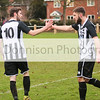 MDEP-04-02-2017-027 Football Harleston v Stalham Town. Nathan Russell celebrates his goal with Scott Roberts