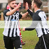 MDEP-04-02-2017-026 Football Harleston v Stalham Town. Nathan Russell celebrates his goal with Olli Willis