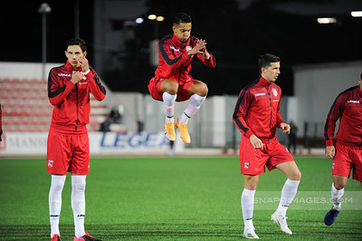 Images of the UEFA Nations League match between Gibraltar and Liechtenstein played at Victoria Stadium on 17/11/20.