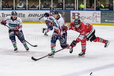Icehockey match between Frederikshavn White Hawks and Aalborg Pirates (3-2)  21-01-2020 in Nordjyskebank arena