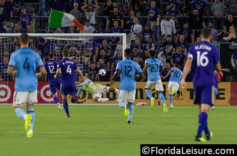 Orlando City Soccer 0 New York City FC 2, Orlando City Stadium, Orlando, Florida - 26th July 2018  (Photographer: Nigel G Worrall)