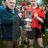 030814  Munster Colleges Senior B' Hurling Final  Colaiste Phobal Roscrea v Cashel Community School.    Colaiste Phobal Roscrea Senior B Hurling team captain  Lee Cashin receives the trophy after victory over Cashel Community School in the Munster Senior  B' Hurling Final, played in Templemore on Saturday.  Photo Andy Jay.