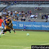 Long Tan opens the scoring for Orlando City Soccer vs. Charleston Battery, USL PRO Play Off Semi Final, Orlando, Florida - 30 August 2013 (Photographer: Nigel Worrall)