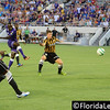 Adama Mbengue scores the second goal for Orlando City Soccer vs. Charleston Battery, USL PRO Play Off Semi Final, Orlando, Florida - 30 August 2013 (Photographer: Nigel Worrall)