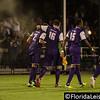 Tyler Turner (2), Brad Rusin (3) Dennis Chin (15) & Aodhan Quinn (16) - Orlando City Soccer celebrate scoring against OC Blues, Orlando, Florida - 11 June 2014 (Photographer: Nigel Worrall)