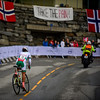 Merdj Aymen up Birkelundsbakken in The Cycling Road World Championships Men Junior Individual Time Trial 19/9-2017.