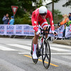 J. Price Pejtersen up Birkelundsbakken in The Cycling Road World Championships Men Junior Individual Time Trial 19/9-2017.
