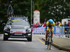 D. Nikulin down  Nattland Road in The Cycling Road World Championships Men Junior Individual Time Trial 19/9-2017.