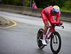 S Waerenskjold up Birkelundsbakken in The Cycling Road World Championships Men Junior Individual Time Trial 19/9-2017.