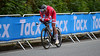 I. Johansen down Nattland Road in The Cycling Road World Championships Men Junior Individual Time Trial 19/9-2017.