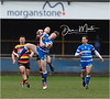 Images from the Principality Welsh Premiership rugby match between Bridgend Ravens and Carmarthen Quins.  Final score: Bridgend 14 Carmarthen 20.