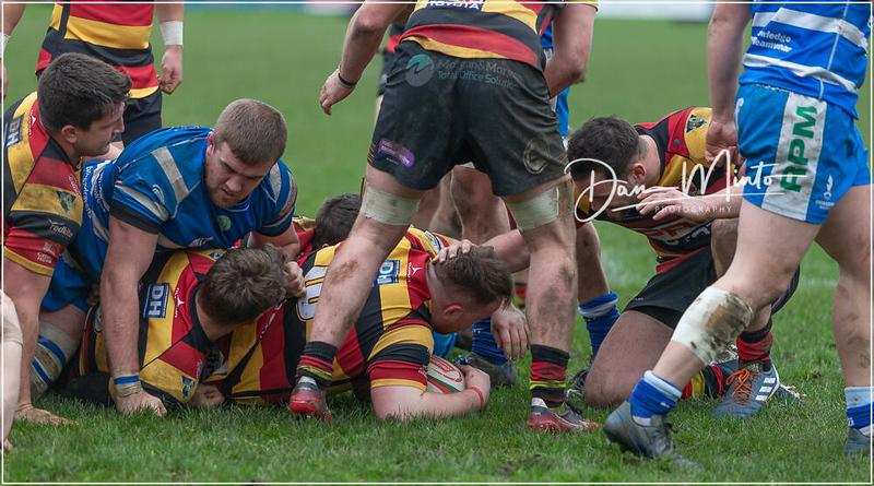 Images from the Principality Welsh Premiership rugby match between Bridgend Ravens and Carmarthen Quins.Final score: Bridgend 14 Carmarthen 20.