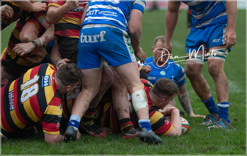 Images from the Principality Welsh Premiership rugby match between Bridgend Ravens and Carmarthen Quins.Final score: Bridgend 14 Carmarthen 20.