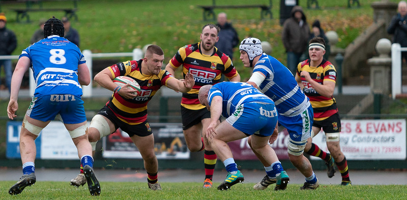 Images from the @Indigo Welsh Premiership rugby match between Carmarthen Quins  and Bridgend Ravens RFC.