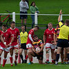 Images from the Indigo Welsh Premiership rugby match between Carmarthen Quins and LLanelli RFC.