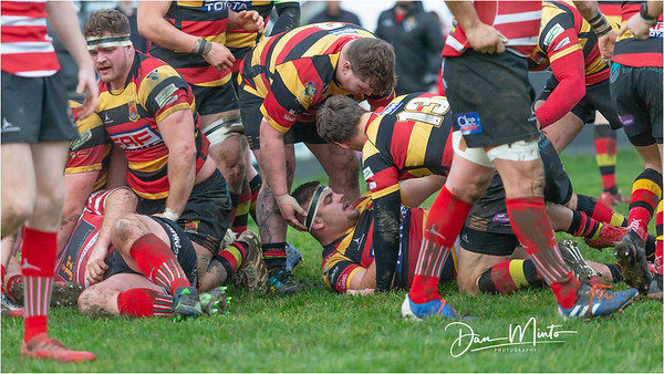 Images from the Indigo Welsh Premiership rugby match between Merthyr RFC and Carmarthen Quins, December 21st, 2019.