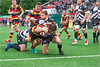 Images from the second round of the 2019-2020 Ineos Welsh Premiership rugby match between  Pontypridd and Carmarthen Quins RFC.