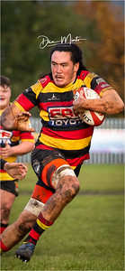 Images from the Specsavers National Welsh Cup rugby match between Beddau RFC and Carmarthen Quins.