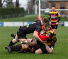 Images from the Indigo Welsh Premiership rugby match between RGC1404 and Carmarthen Quins RFC.