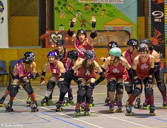 Brutal Pageant 233 vs. Smash Malice 230, Kilbirnie Recreation Centre, Wellington, 23 May 2015