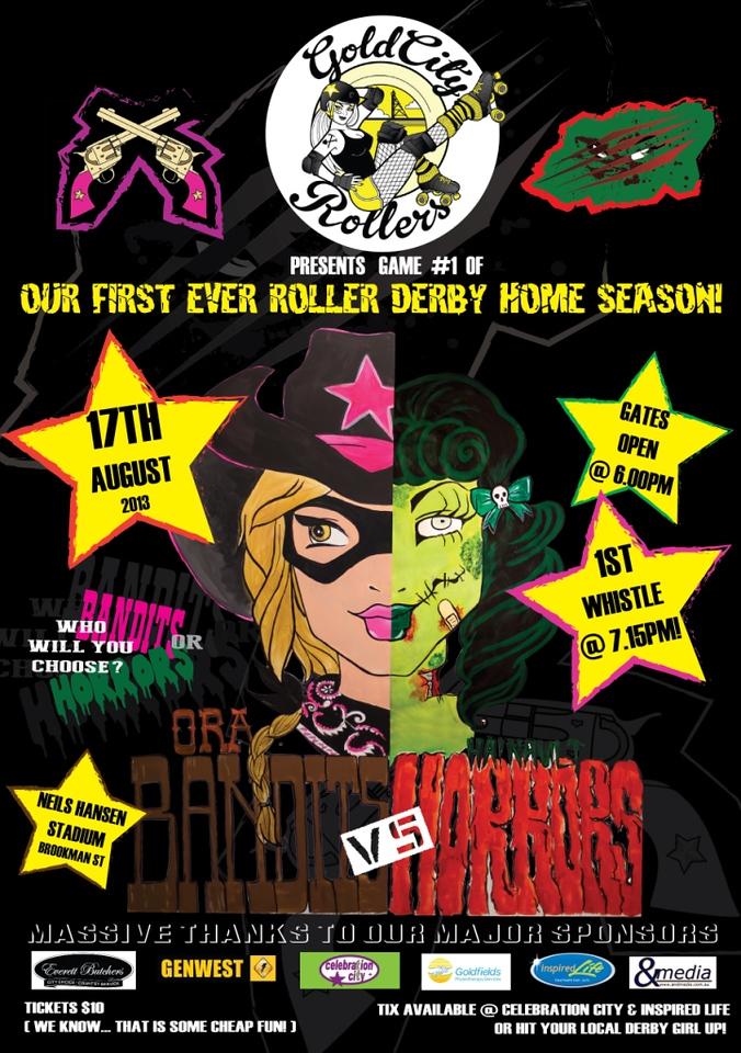 Ora Bandits vs Hainault Horrors - Bout Poster: Season 1 Bout 1