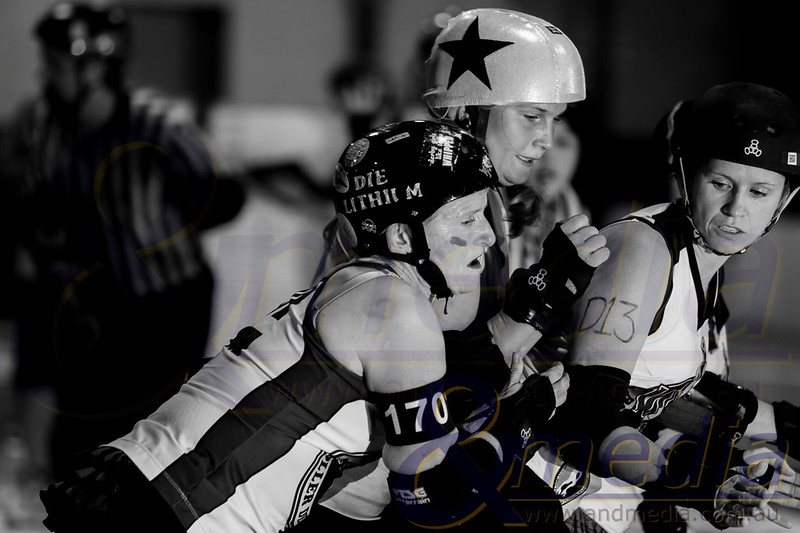 Roller Derby: Gold City Rollers vs WA Roller Derby WayWARD's - 05/04/2014: Kalgoorlie