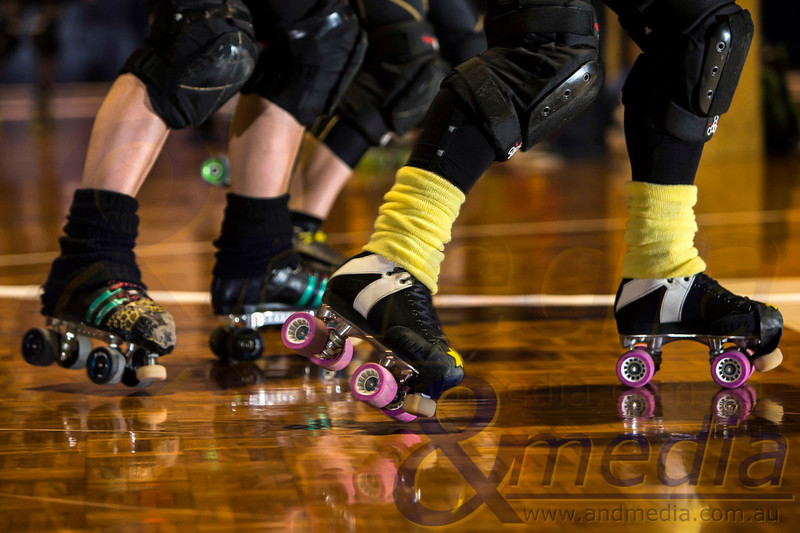 Shamblock 'N' Roll: Gold City Rollers vs Margaret River Roller Derby - 15/03/2014: Kalgoorlie
