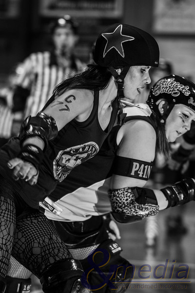 Shamblock 'N' Roll: Gold City Rollers vs Margaret River Roller Derby - 15/03/2014: Kalgoorlie