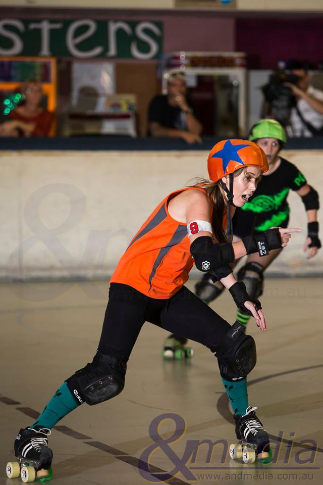 Northern Tropical Thunder 2013: Cairns Derby Dolls vs Tableland Roller Derby - 08/06/2013: Townsville