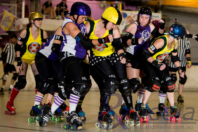 Northern Tropical Thunder 2013: Malice Springs Roller Derby League Rogue Sisters vs Towns Villains Roller Derby Bandits - 08/06/2013: Townsville