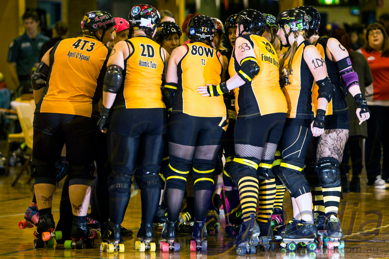 """Perth Roller Derby """"Grand Final Double Header"""": The Bloody Sundaes (PRD) vs Gold City Rollers (GCR) - 29/06/2013: Perth"""