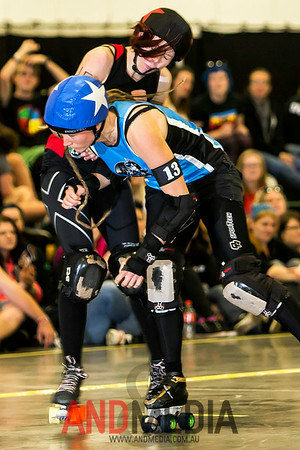 The Great Southern Slam 2014 - Division One: Sydney Roller Derby League (SRDL) vs Perth Roller Derby (PRD)
