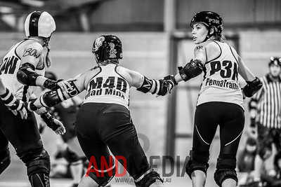 The Great Southern Slam 2014 - Division Two: Devil State Derby League (DSDL) vs Gold City Rollers (GCR)
