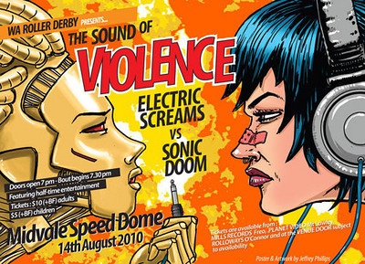 The Sound of Violence promo poster.  By Jeffrey Phillips.