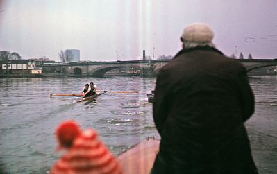 University of London Trials race, December 1970. Bayles and Warbrick-Smith racing the VIIIs.