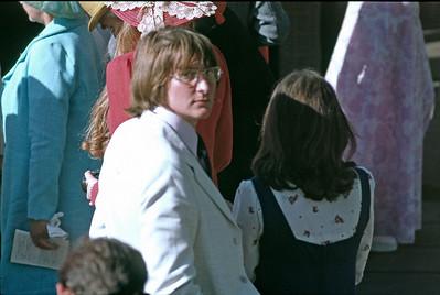 Peter Wilkes, Brownie Logan in the crowd, 1974