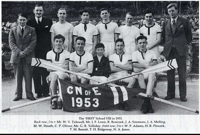 1st VIII winners of clinker pennant at North of England HoR, Chester 1953