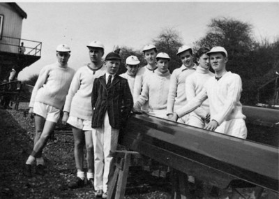 The first Tideway Head crew looking pensive. 1954. Finished 101st out of 235 entries