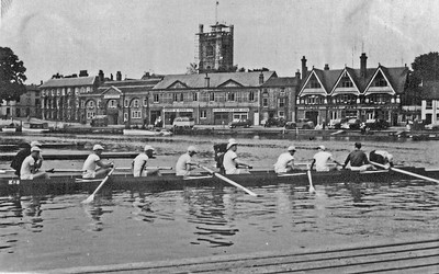 End of a training outing at Henley 1955