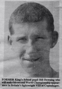 Bill Downing: GB Lightweight VIII, World Championships. Copenhagen, 1987